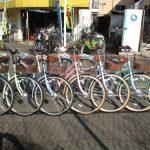 かわいい、おしゃれな自転車がいっぱいです。