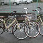 可愛い自転車 あります。