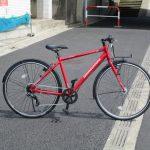 春らしいカラーのブリヂストン自転車の紹介です。