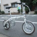 FIAT AL-FDB166 コンパクトで軽量な折り畳み自転車